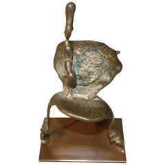 Nice Bronze in the Manner of Barry Flanagan Signed Flanagan