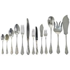 "Soufflot ""Caron"" French Sterling Silver Dinner Flatware Set of 124 Pieces"
