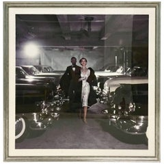 """1952 Photograph """"Couple in Parking Garage"""" by John Rawlings"""