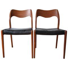 Niels O. Møller Model 71 Dining Chairs