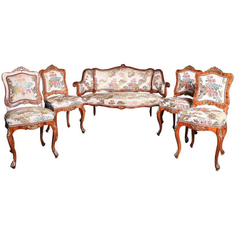 19th Century Baroque Saxony Seat Group 1880 For Sale