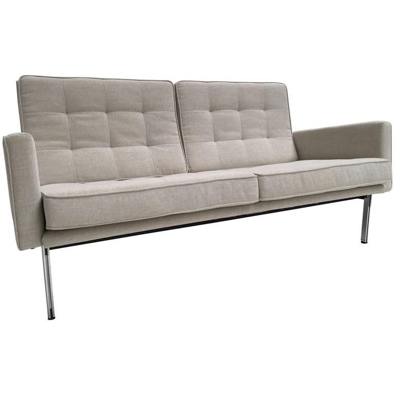Early Florence Knoll Parallel Bar Sofa by Knoll International, circa 1955 1
