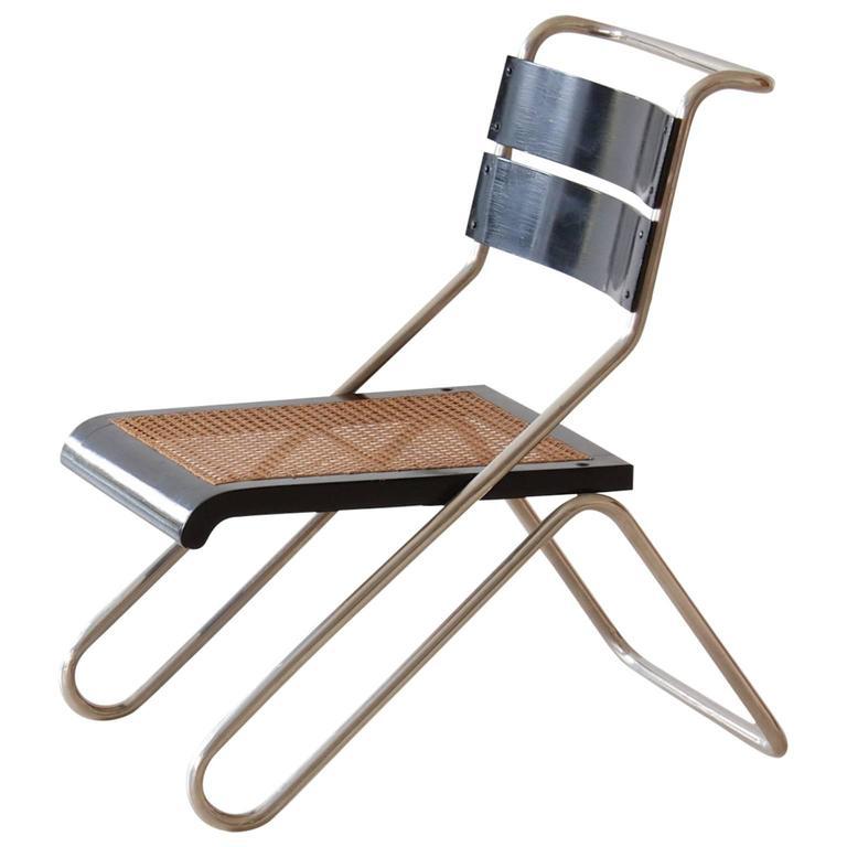 Bauhaus Tubular Steel Chair By Erich Dieckmann