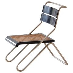 Bauhaus Tubular Steel Chair by Erich Dieckmann, Manufactured by Cebaso, 1931