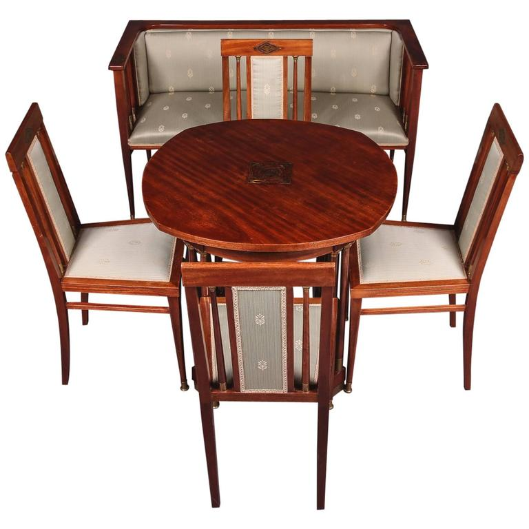 19th Century Art Nouveau Seat Group Living Room Sets For Sale