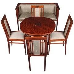 19. Jahrhundert Jugendstil Sitzgruppe, Wohnzimmer Set