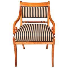 19th Century Biedermeier Birchwood Chair