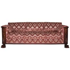 19th Century Historicism Oak Couch Sofa