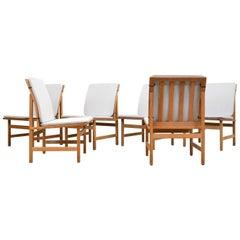 Børge Mogensen Dining Chairs Model 3232 for Fredericia Stolefabrik, Denmark