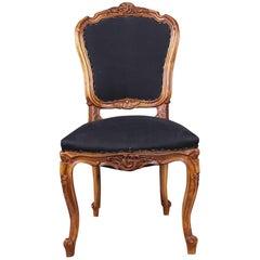 19th Century Rococo Walnut Chair