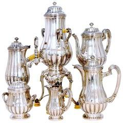 Tetard French Sterling Silver Samovar, Chocolate Pot, Teapot,Coffee & Sugar  Pot