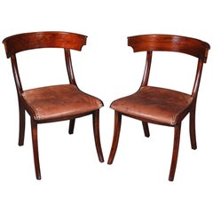19th Century Empire Pair Of Klismos Chair