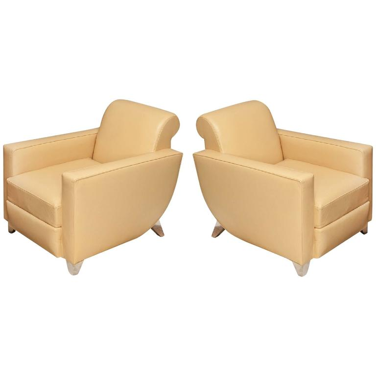 "Alfred Porteneuve ""Hydravion"" Model, Pair of Armchairs, circa 1940 For Sale"