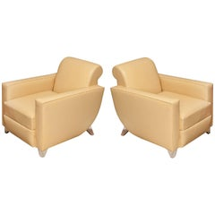 "Alfred Porteneuve ""Hydravion"" Model, Pair of Armchairs, circa 1940"