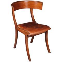 19th Century Empire Klismos Chair