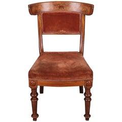 19th Century Biedermeier Curving Backrest Chair