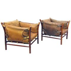"Two ""Ilona"" Lounge Chairs by Arne Norell"