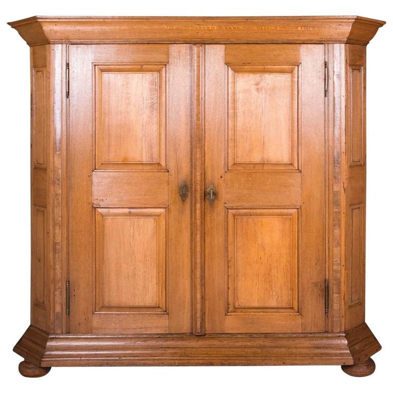 18th Century Baroque Oak Cupboard