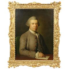 Georgian Portrait of a Gentleman in a Period Frame
