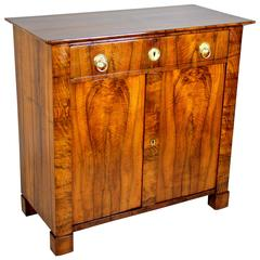 Biedermeier Nut Wood Trumeau Chest, Austria circa 1830