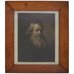 Portrait of an Old Man, After Rembrandt, Etching, circa 1850