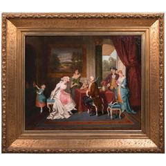 19th Century Historicism Rococo Paintings L. Morbach, Munich, 1894