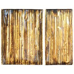 Wall Art 'Golden Diptych' by Pleunie Buyink