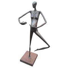 """32 1/2"""" Tall Ltd. Edition #4 of 8, Modern Solid Bronze Sculpture, Signed & Dated"""