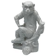 1960s Blanc de Chine Monkey Sculpture