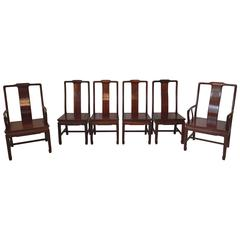 1960s Ming Style Rosewood Dining Chairs, Set Of Six