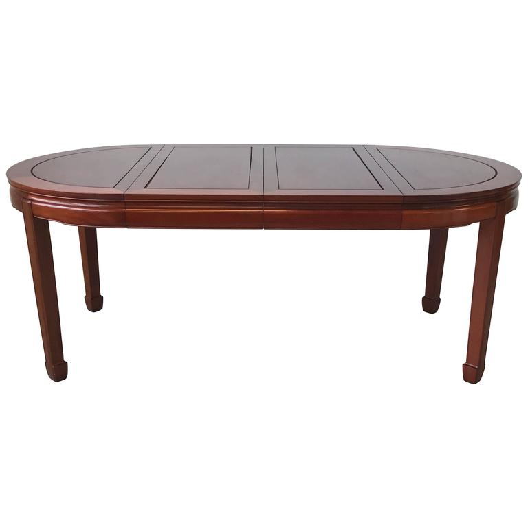 1960s Ming Style Rosewood Dining Table with Two Leaves
