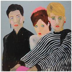 'The Human League,' 1980s Portrait Painting by Alan Fears Pop Art Music
