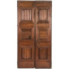 Pair of Handcrafted Wood Doors