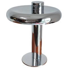 Laurel Lamp Co. Mid-Century Modern Chrome Offset Table Lamp