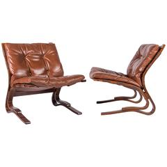 Pair of Scandinavian Modern 'Pirate Chairs'