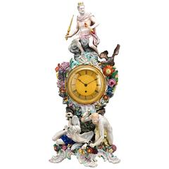 Prometheus Porcelain Mantle Clock by Meissen
