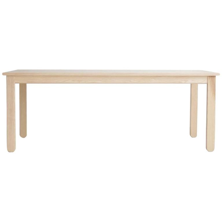 Solid Wood Modern Dining Table In Oiled Ash At 1stdibs