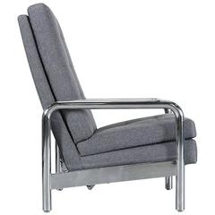 Milo Baughman Chrome Reclining Chair for Thayer Coggin