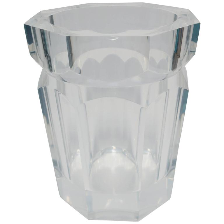 Lucite Champagne Wine Cooler Ice Bucket