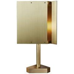 Tripp Table Lamp in Satin Brass by Pelle