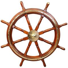 Eight-Spoke Brown Bros. Ship's Wheel