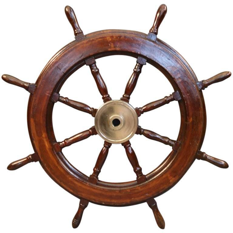 Eight-Spoke Ship's Wheel For Sale