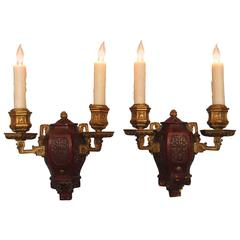 Pair of Early 20th Century New York Caldwell Aesthetic Movement Sconces