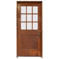 Oak Early 20th Century School House Door