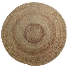 Round Vintage African Artisanal Basquet