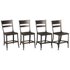 Vintage Toledo Steel Side Chairs Set of Four Refinished Modern Dining