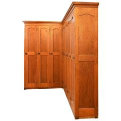 Oak Corner Locker Unit