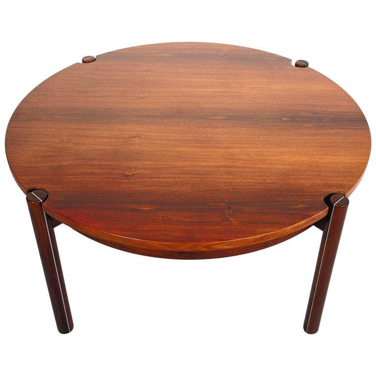 Round Mid-Century Coffee Table By Hans J. Frydendal For
