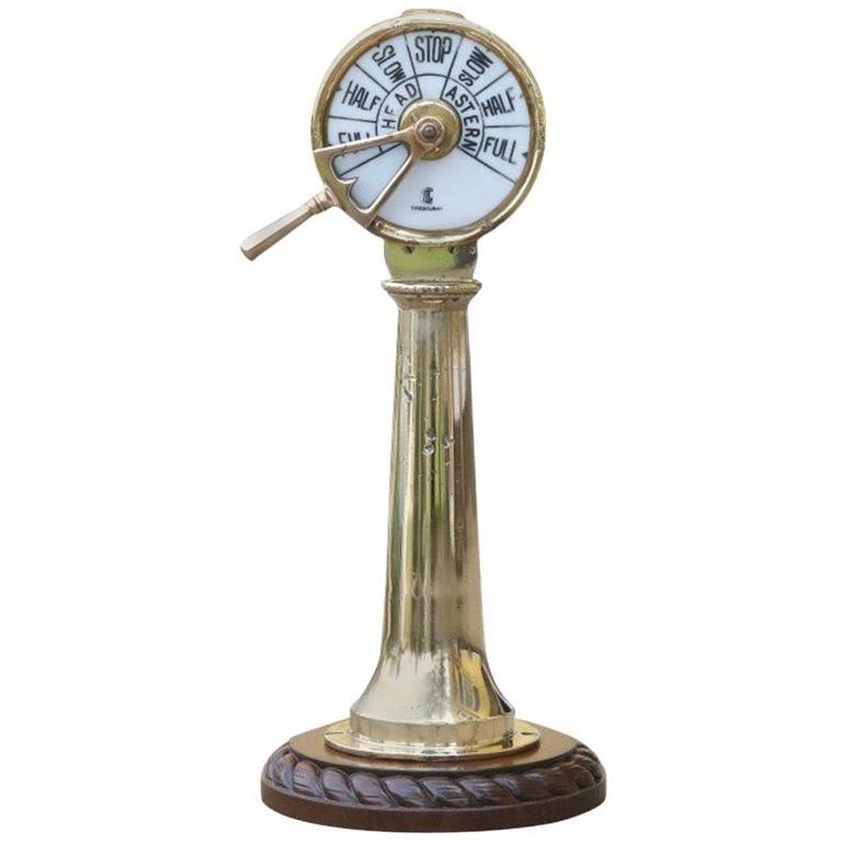 Brass Telegraph by Chadburns For Sale