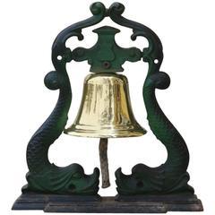 Brass Bell on Iron Frame